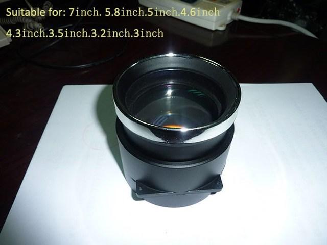 1 piece f210mm DIY 1080p projector lens 3.5 inch 5.8 inch 7 inch high definition projector diy parts