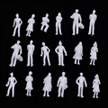 100 Шт./упак. Белый Люди Модель Поезда Железной Дороги Пейзаж 1:150 Модель Песок Стол Людей 1.5 СМ Высота Горячий Продавать