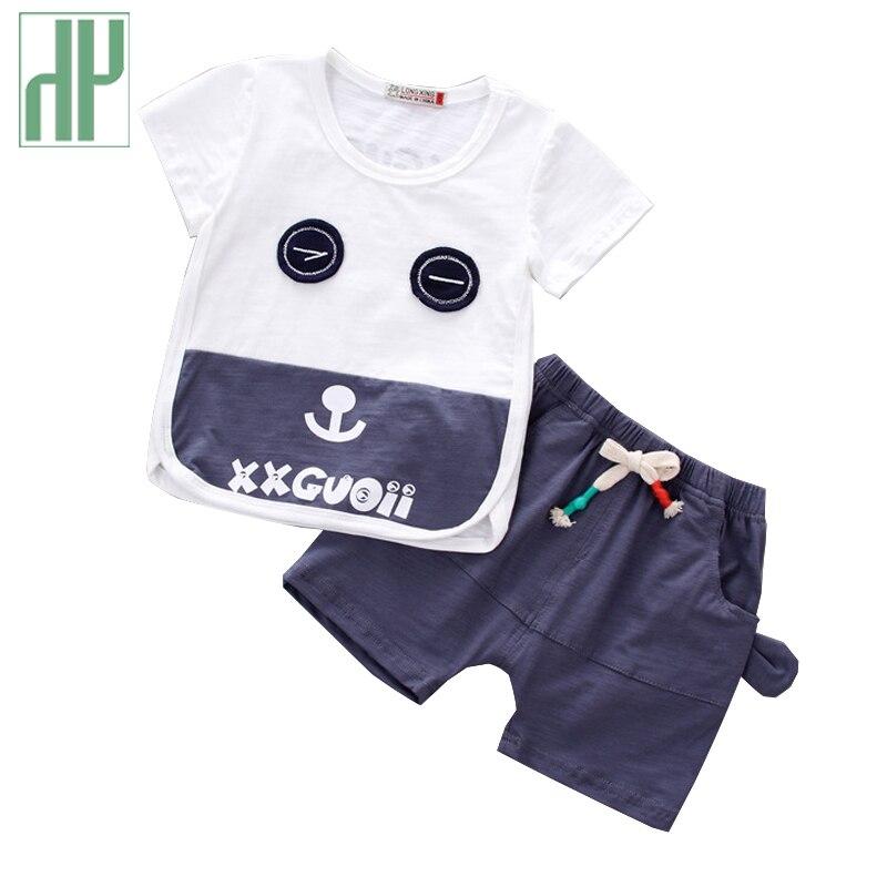 Vêtements pour enfants de Bande Dessinée d'été enfants vêtements filles à manches courtes T-merde + Pantalon Coton survêtement pour les garçons vêtements bébé costume