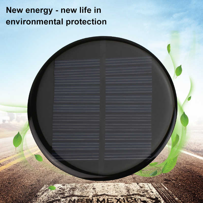ANBES 6 V 2 Energia Solar W 0.35A 80 MM DIY Mini Módulo da Célula Solar de Silício Policristalino Círculo Solar de Volta painel de Placa de Epóxi
