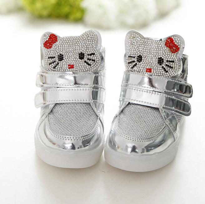 Hot-Girls-shoes-baby-Fashion-Hook-Loop-led-shoes-kids-light-up-sneakers-Girls-hello-kitty-children-shoes-with-light-in-stock-4