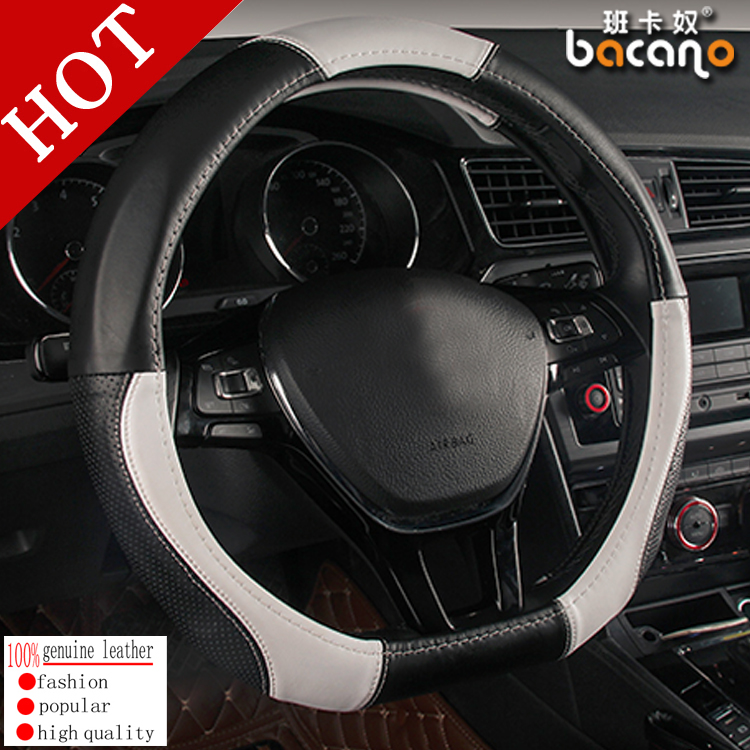 D Ring Car Steering Wheel Cover Leather For Volkswagen VW Golf 7 GTi Mk7 Golf7 Scirocco Passat B7 B8 Polo 2015 Car Accessories масштаб 1 18 vw volkswagen new polo gti 2015 diecast модель автомобиля белый