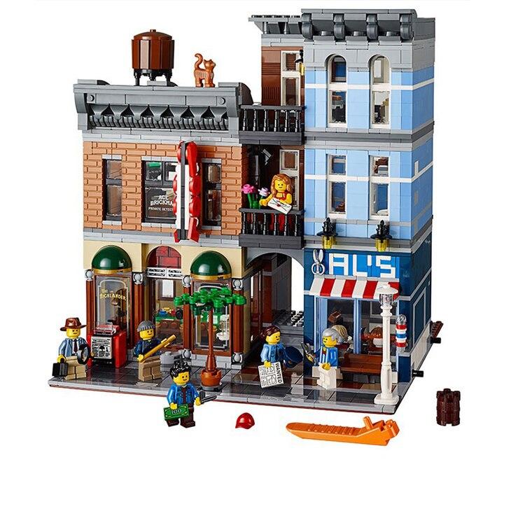 2018 LEPIN 15001 Brick Bank+15011 The Detectives Office Model Building Kits Blocks Bricks Toys For Children Gift 10251 10197