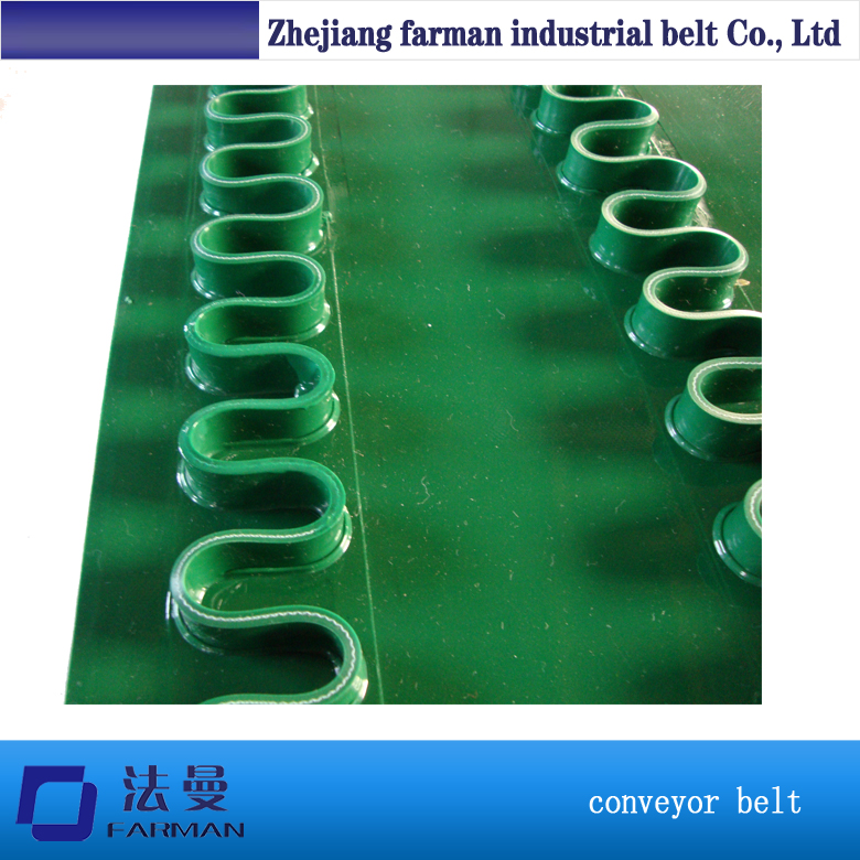PVC Conveyor Belt Green Color Skirt for Food Industry customized blue pvc conveyor belt for food industry