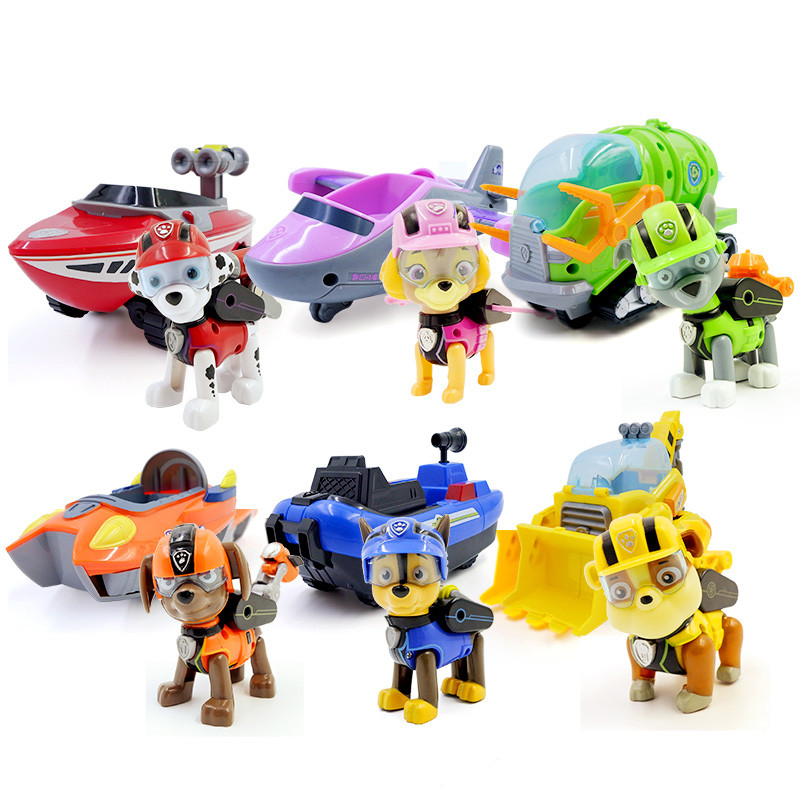 Paw Patrol Toys Car Deformation Dog Anime Toys Figurine Plastic Toy Model Patrulla Canina Toys Children Paw Patrol Birthday Gift