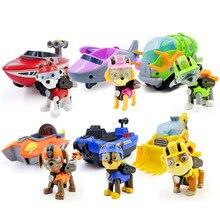 Paw patrol toys car Deformation dog Anime Toys Figurine Plastic Toy model patrulla canina Children birthday Gift
