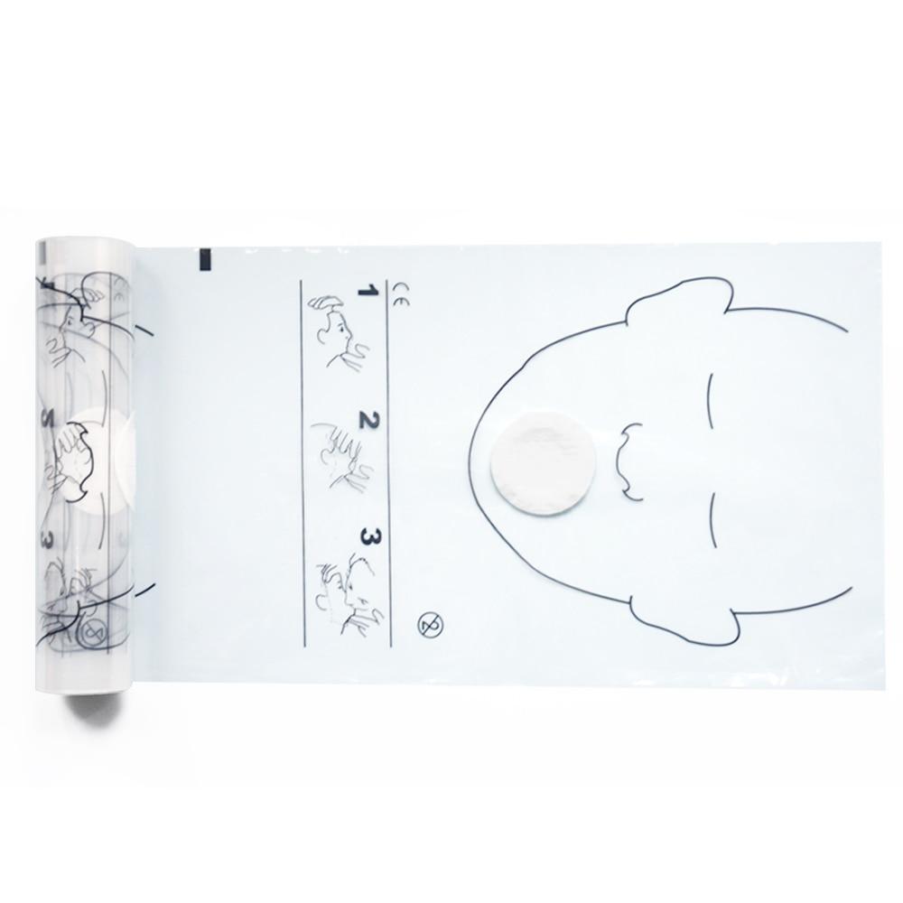 Image 4 - 8 рулонов 36 шт/рулон CPR Resuscitator спасательные щиты для лица  с односторонним клапаном для обучения первой помощиcpr manikin face  shieldsshield dvdshield patch -