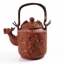 Heißer Verkauf 2015 Teekanne Drachen Topf 760 ml yixing Clay Tee Set Echte Wasserkocher Kung Fu Handgefertigten Zisha Sets Porzellan wasserkocher