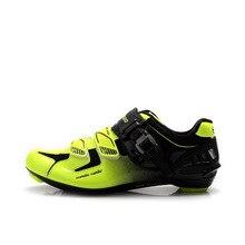 TIEBAO Road Вело обувь Professional для мужчин Велосипедный спорт обувь прялки Авто замок велосипед G1303