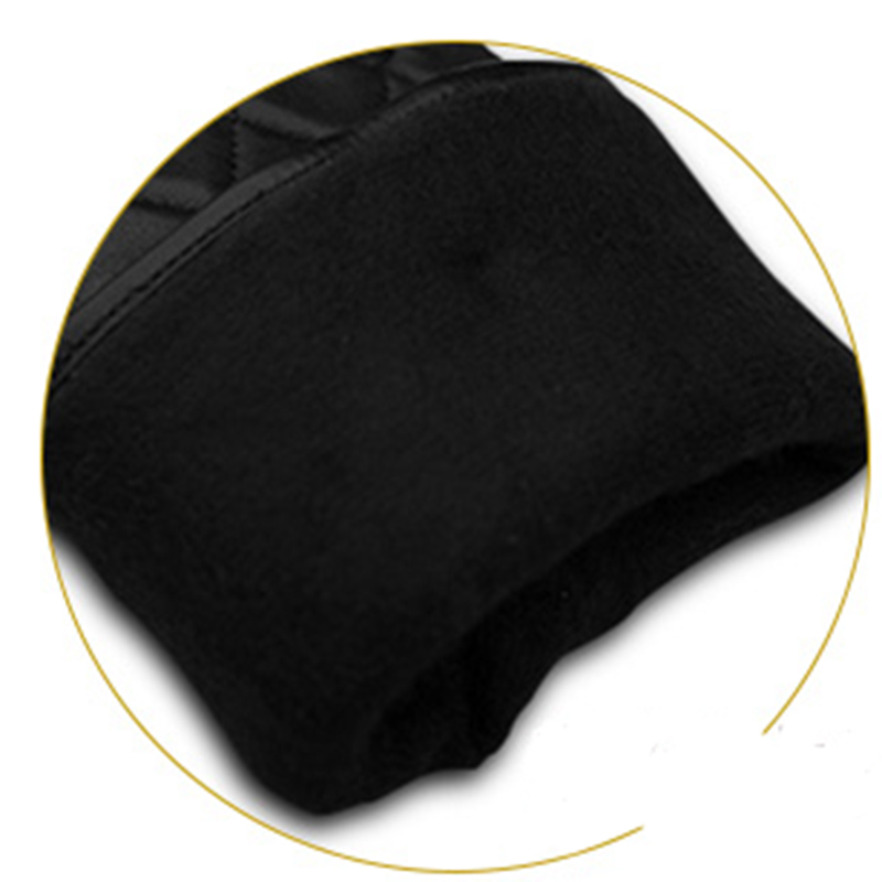 Genuine Leather Men Black Gloves Fashion Plaid Business Sheepskin Driving Glove Winter Thicken Warm Five Finger NM764 5 in Men 39 s Gloves from Apparel Accessories