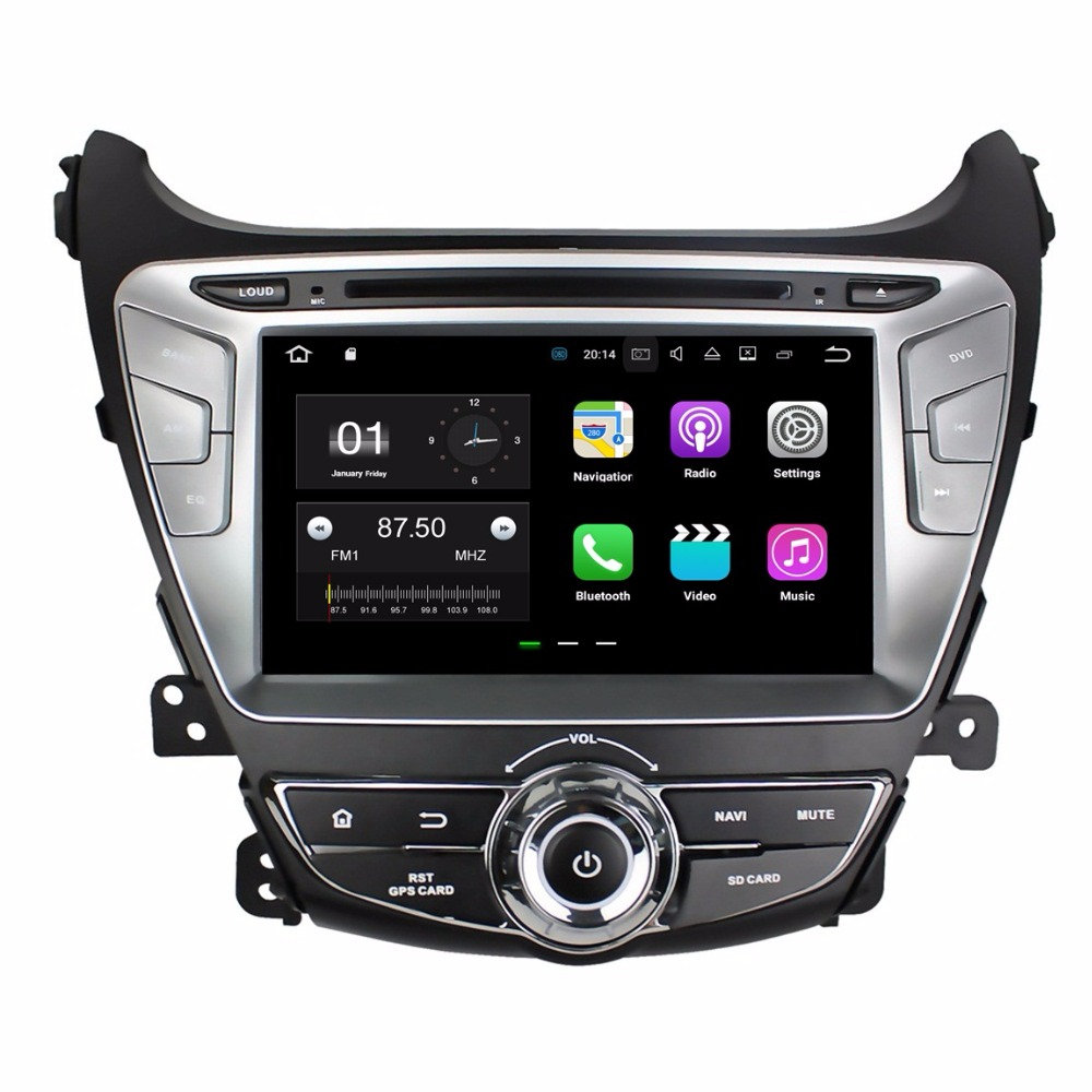 2GB RAM Quad core 2 din 8 Android 7 1 Car DVD Player for Hyundai Elantra