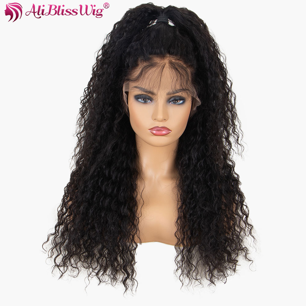 The Best 13x6 Curly Lace Front Human Hair Wigs With Baby Hair Brazilian Remy 150 Density Preplucked Natural Hairline Full End Aliblisswig Hair Extensions & Wigs Lace Front Wigs