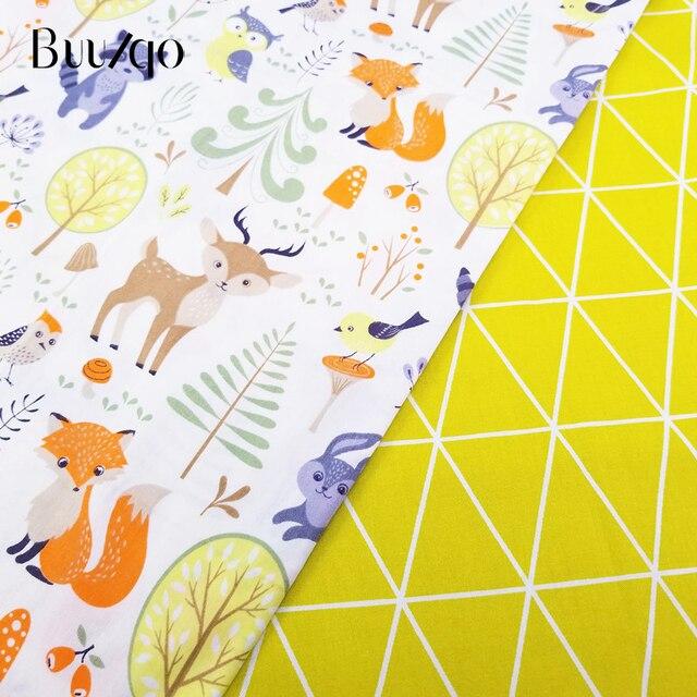 US $1.18 30% OFF|Gedruckt Fuchs 100% Baumwolle Stoff Kinder Baumwolle  Patchwork Tuch DIY Nähen Quilten Fett Viertel Material Für Baby & Kind in  ...