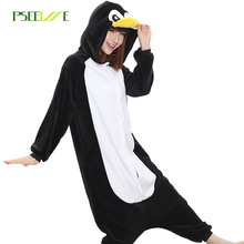 Adult penguin pajamas onesies for adults home clothing pajamas for women Flannel animal pyjama femme couple pajama sets homewear
