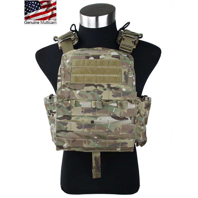 2019 Updated Multicam Cherry Plate Carrier CPC Exported 500D Nylon CP CPC Tactical Vest Plate Include 9x12 Inch EVA Board 2 Pcs