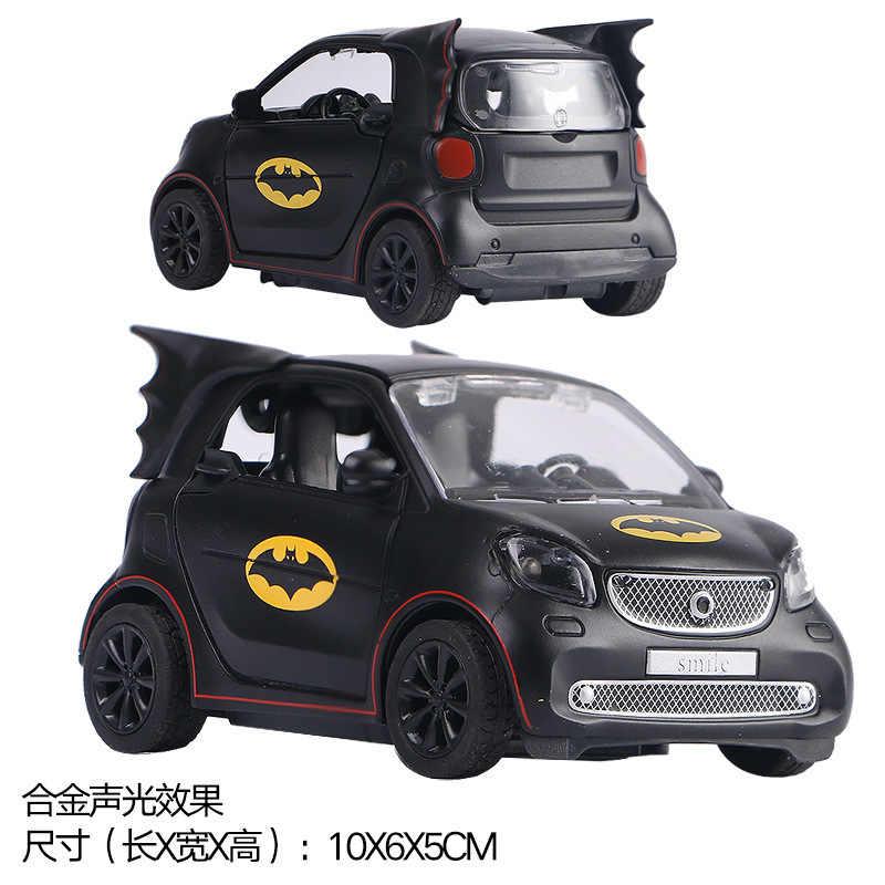 Rodas quentes 1:36 Diecasts Veículos Batman Lambor Inteligente Modelo de Carro Puxar Para Trás Som Luz Coleção Brinquedos Para Crianças Brinquedo de Presente