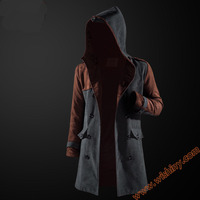 Assassin's Creed Trench Clothing Cool Men Boy Hooded Coats Quality Assassin Creed Cosplay Costumes