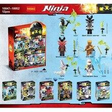 Pogo Lepin 10047-10052 Echo Zane Yang Kozu Ninjagoe Thunder Swordsman Building Blocks Bricks Toys Compatible Legoe