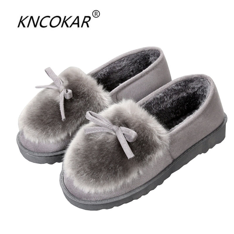 New winter cotton slippers female large base package with indoor deerskin fluffy wool warm cotton shoes confined shoes at home