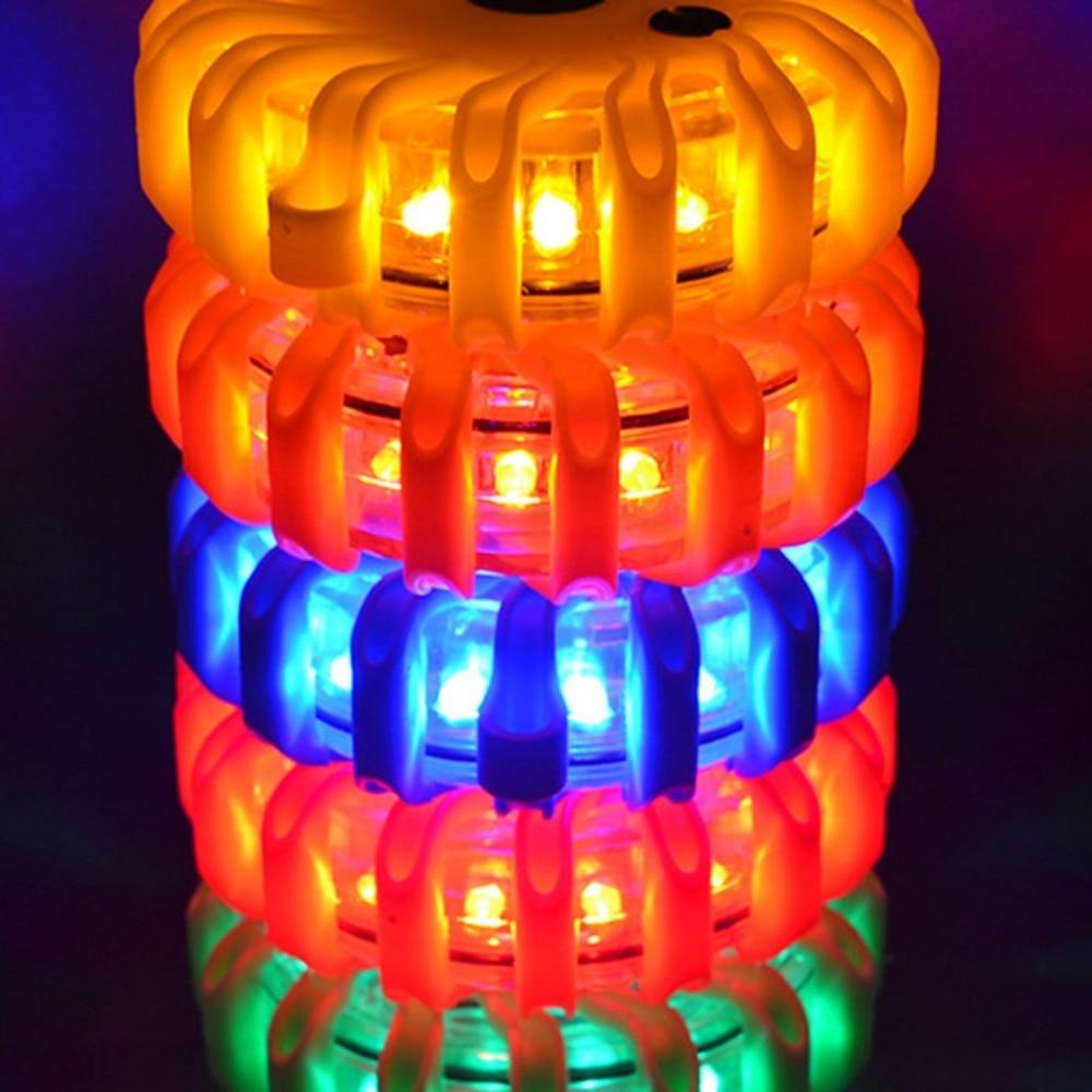 ICOCO 2pcs LED Magnet Flashing Warning Night Lights Safety Road Flare
