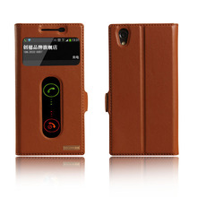 Luxury Natural Genuine Leather Window Flip Stand Cover Case For Lenovo P70 P70T Luxury Mobile Phone + Free Gift