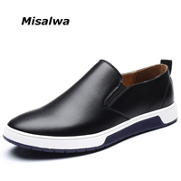 Misalwa 2019 Hot Comfortable Men Leather Loafers Men Driving Shoes Brand Leisure Shoes Big Size Free Drop Shipping