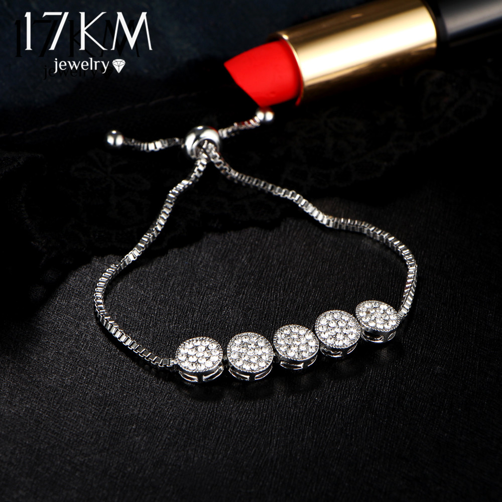 17 KM New Fashion Gelang Adjustable Untuk Wanita Pulseras Mujer Pesta - Perhiasan fashion - Foto 5