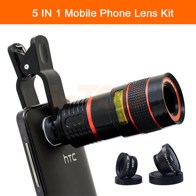 2017 Camera Lenses Kit 8X Zoom Telephoto Telescope Lens