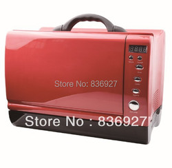 24V/12V Yacht or Car use Red/Black/Blue/White Digital timer control portable microwave oven