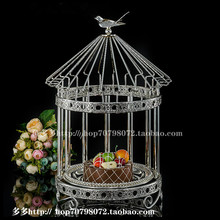 1PCS New single-layer bird cage snack frame alloy cake stand wedding dessert table baking display