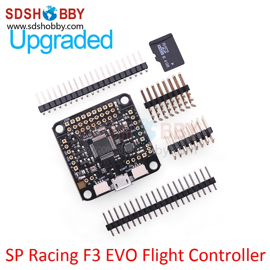 ФОТО New Generation of Aircraft Flight Controller SP Racing F3 Upgraded Version EVO Including 4GB Micro SD Card for QAV Racing Drones