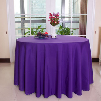 Marious top quality purple  round polyester hallowetable cloth/table linens for wedding party decoration  Free shipping