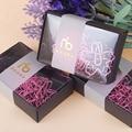 12 teile/los TOP QUALITÄT Vergoldet Rosa Papier Clips Sakura Papier Nadel Lesezeichen Metall Memo Clip Schreibwaren Kirschblüten Box Clips
