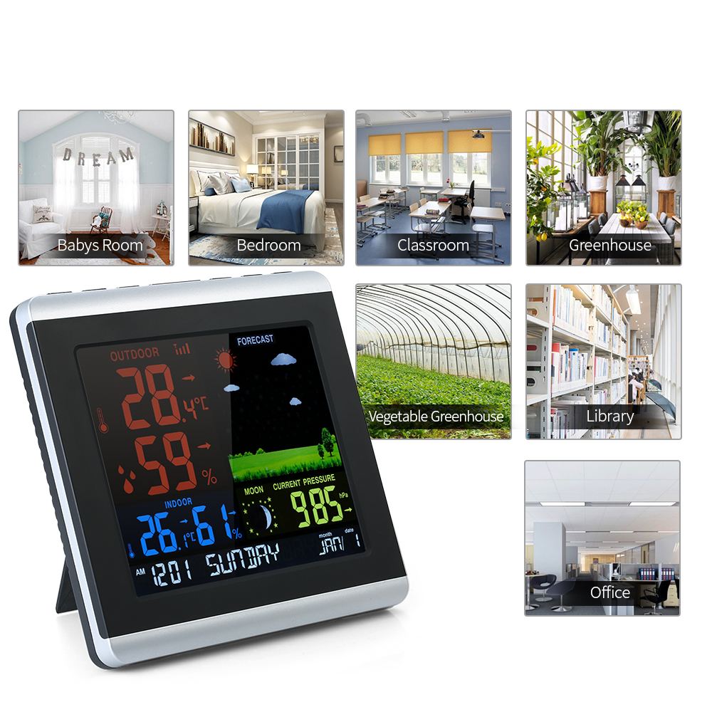 Digoo Hygrometer Thermometer Weather Station DG TH11300 Wireless HD Negative Screen USB Outdoor VA Glass Forecast