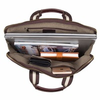 J.M.D 100% Genuine Leather Handbag With Large And Small Compartment Fits Wallet And Laptop Bag For Men 6018