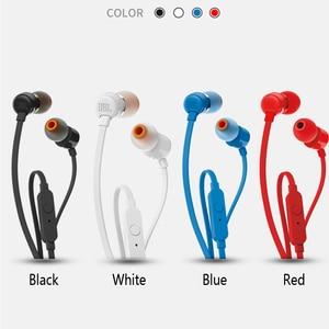 Image 3 - JBL T110 3.5mm 유선 이어폰 스테레오 음악 딥베이스 이어 버드 헤드셋 스포츠 이어폰 인라인 컨트롤 핸즈프리 마이크 포함