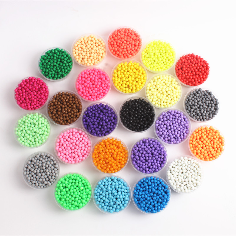 200PCS/Bag 3D Puzzle Water Sticky Beads Toys For Children Spray Beads Speelgoed 24 Colors Jigsaw Water Educational Toys Jouet