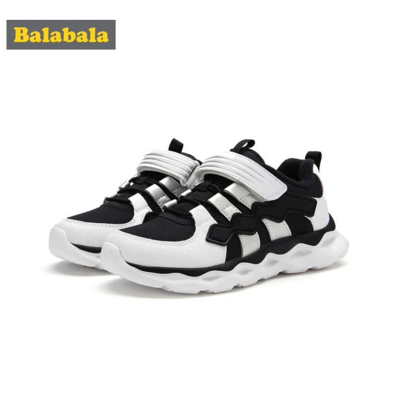 Balabala Boys Fleece-Lined Light-up Sneakers with Hook-and-loop Strap Kids Toddler Boy Running Shoes Padded Collar and Insole