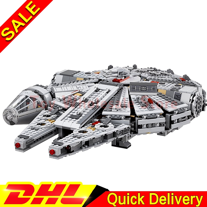 DHL In Stock LEPIN 05007 Star Series War Building Blocks Force Awakens Millennium 75105 Falcon Model Toys For Kid Christmas Gift 2018 dhl lepin star series war 05007 05033 05132 building blocks bricks model toys compatible 75105 10179 75192 gifts