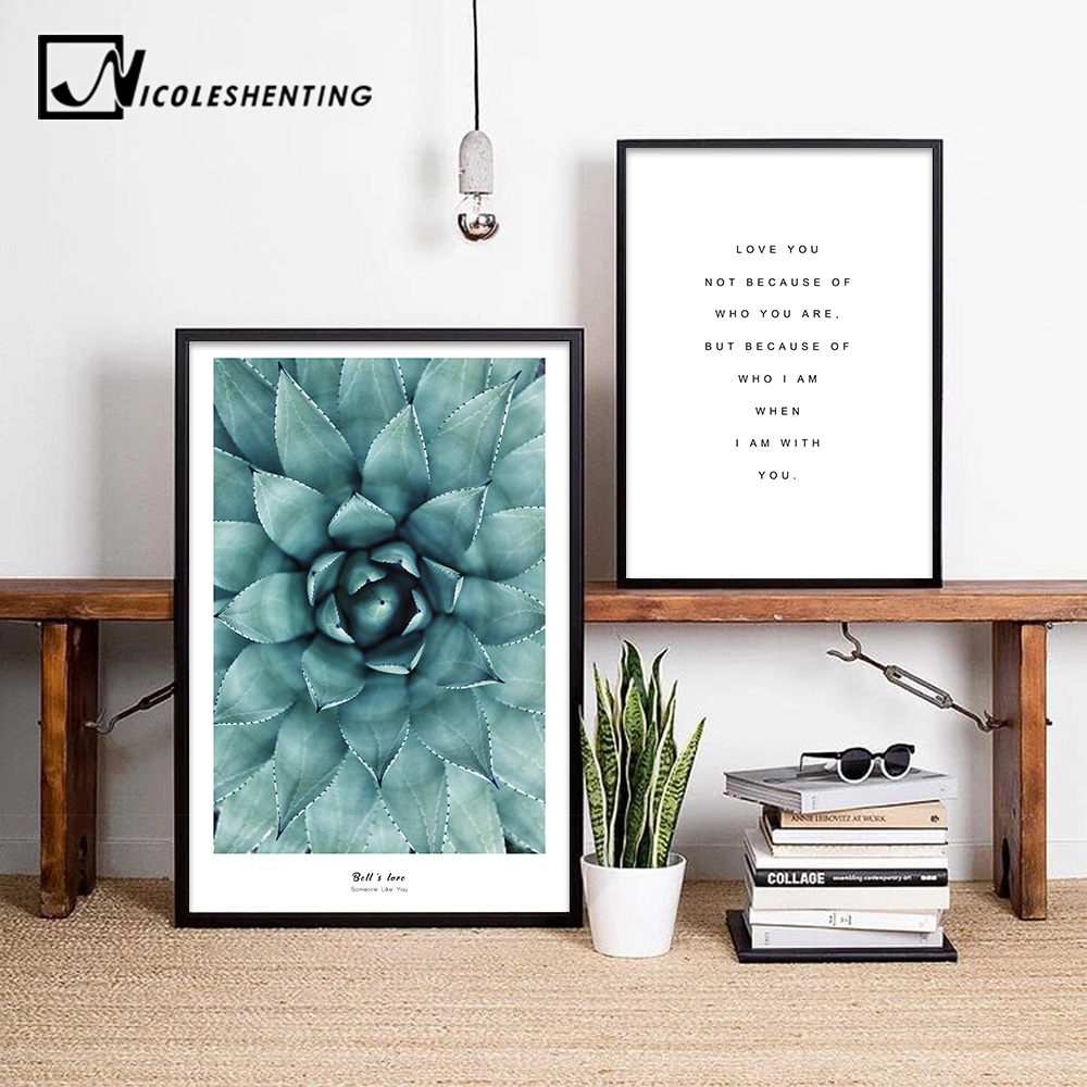 Flower Motivational Posters Quote Wall Art Canvas Prints Paintings Decorative Picture for Living Room Modern Home Decoration