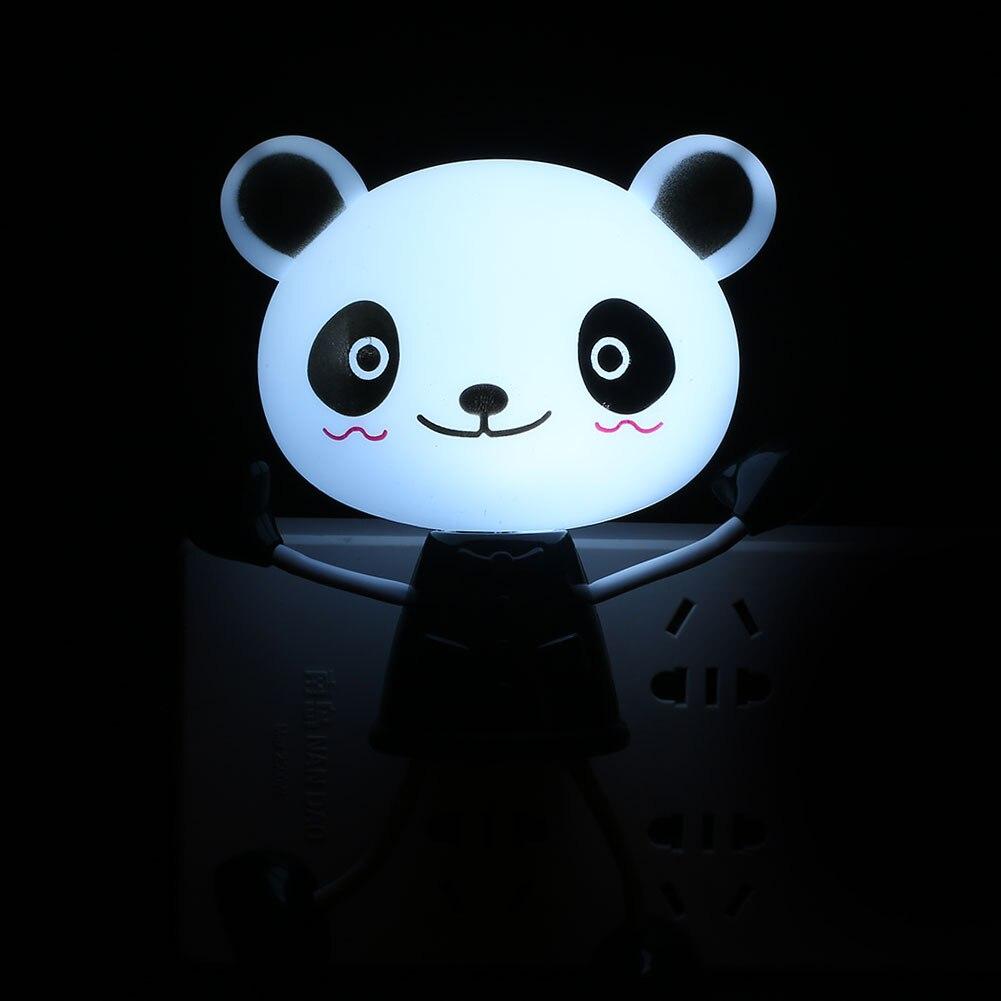С рисунком панды светодиодный ночник лампа Спальня номер подарки освещение аксессуары милый новый