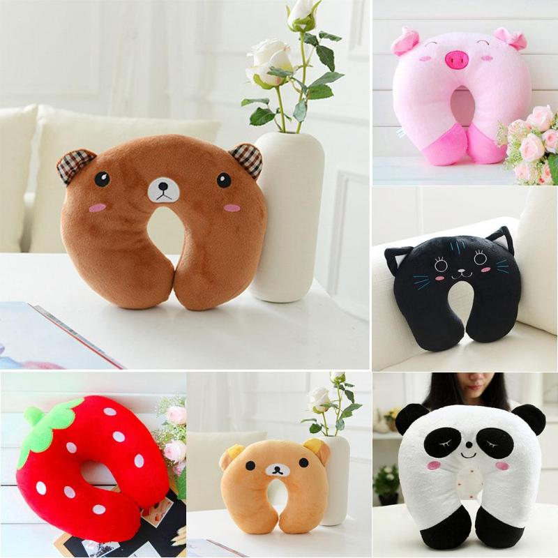 Mother & Kids 6 Color Comfortable Cushion For Car Plane Cartoon Animals U Shaped Pillow Travel Neck Pillow Multi-color Neck Support Head Rest