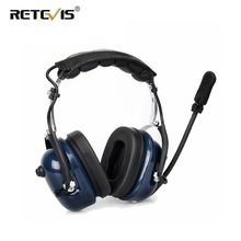 إلغاء الضوضاء الطيران سماعة رأس مع ميكروفون لاسلكي سماعة الأذن VOX تعديل حجم ل كينوود Baofeng UV 5R Retevis H777