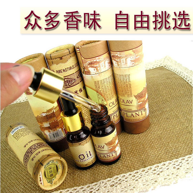 1pcs 10ml dropper cylinder aromatic plant essential oils aromatherapy lamp soluble humid ...