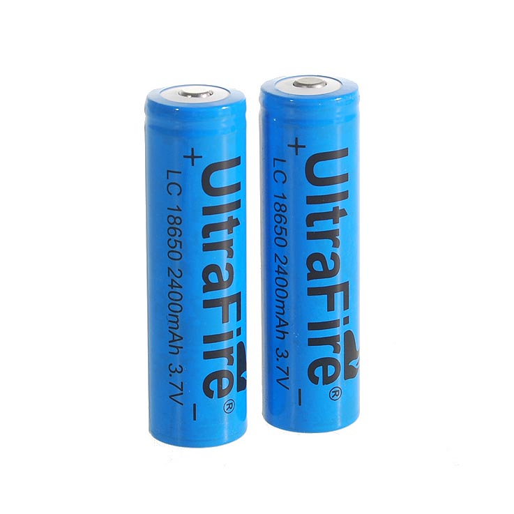 2pcs/ Lot 18650 3.7V 2400mAh Lithium Batteries High Quality 18650 Rechargeable Li-ion Batteries For Flashlights