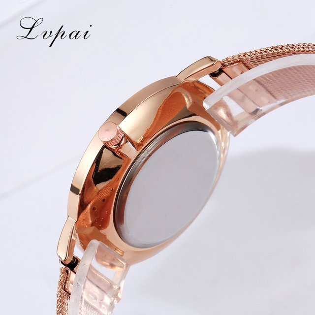 Lvpai Brand 2017 Luxury Women Gold Watch Fashion Bracelet Dress Watch Quartz Wristwatch Ladies Casual Sport Business Watch 4
