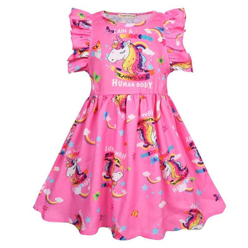 Summer Girls Dress Unicorn Children 39 s Wear Sweet Princess Dress Festival Children 39 s Clothes in Dresses from Mother amp Kids