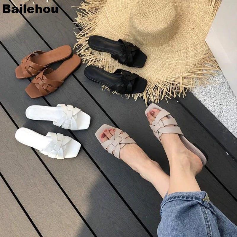 Bailehou 2019 New Flat Casual Slippers Daily Summer Beach Flip Flops Vacation Sandal Footwear Brand Slide Outdoor Slipper Female