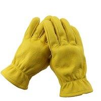 S Motorcycle Bicycle Warm Yellow Anti Cold Anti Slip Ski Snowboard Hiking Gloves
