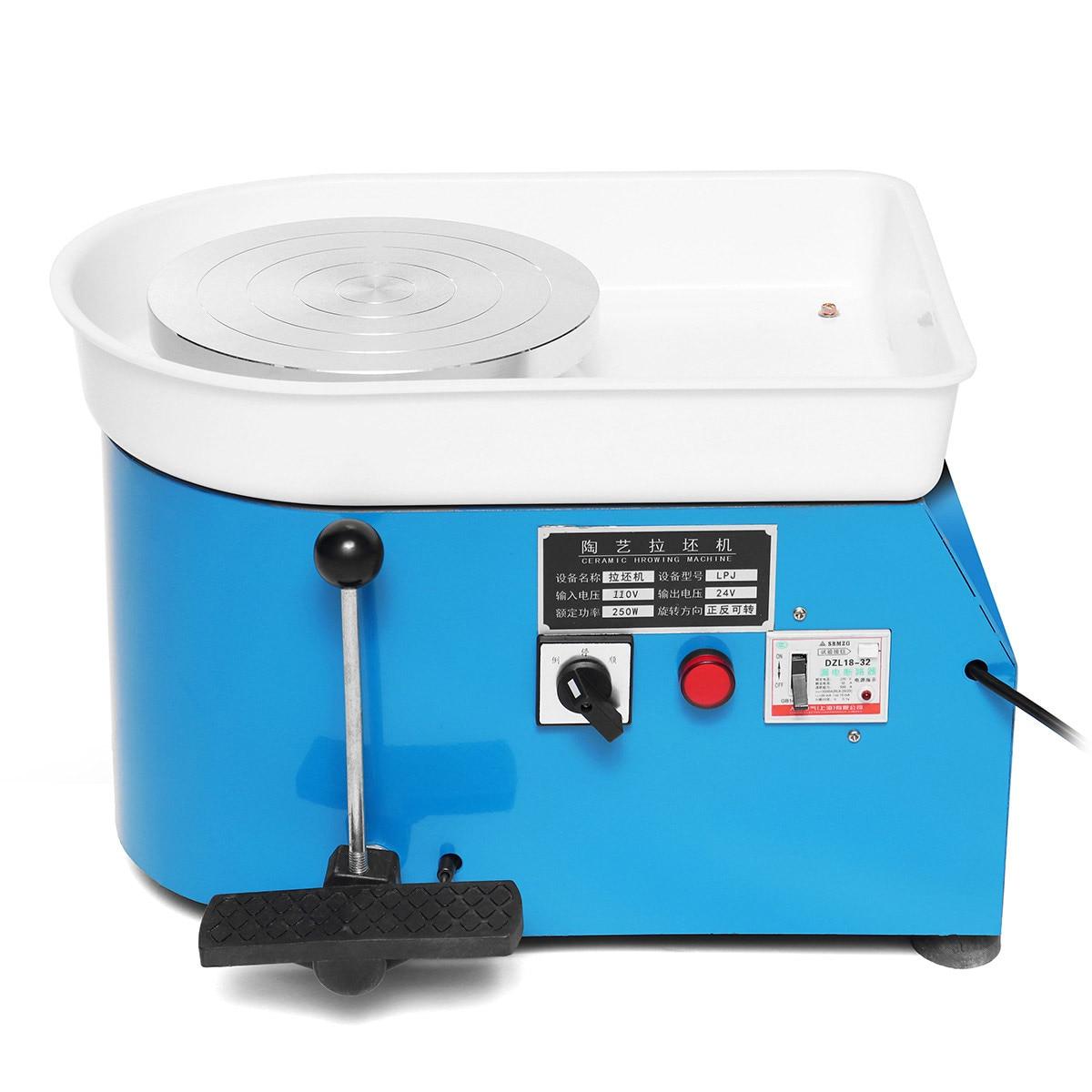 3 couleurs 110 V/220 V poterie formant la Machine 250 W/350 W poterie électrique roue argile pour travaux pratiques outil avec plateau pour céramique travail céramique - 6